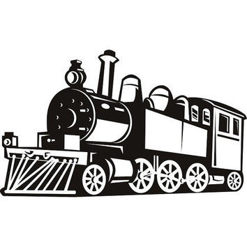 Train Wall Painting Furniture Stencil