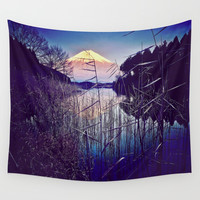 The Red in Deep Blue Wall Tapestry by MareLoki