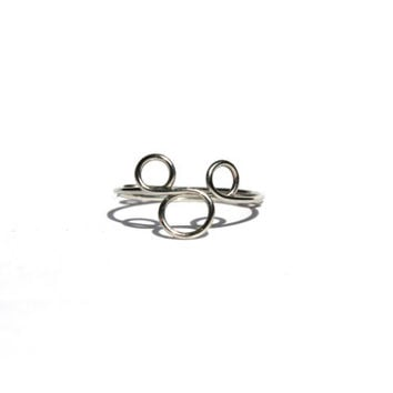 Silver Mickey Mouse Wire Ring