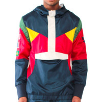 Olympic Windbreaker Jacket In Navy