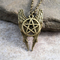 Supernatural's Castiel Wings Necklace