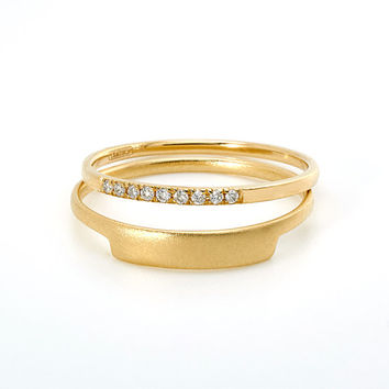 Petite Diamond Band in 14k Yellow Gold