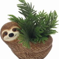 Sloth Ceramic Flower Planter