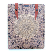 Leather iPad case  Elegant lace by tovicorrie on Etsy
