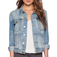 FRAME Denim Le Grand Garcon Jacket in Essex
