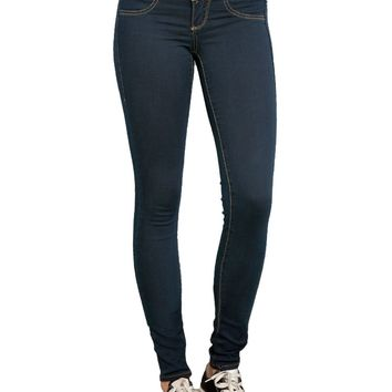 Licensed cool LOVEsick Blue Dark Indigo Skinny Jeans 3 Button Jeggings JRS. Size 0 Hot Topic