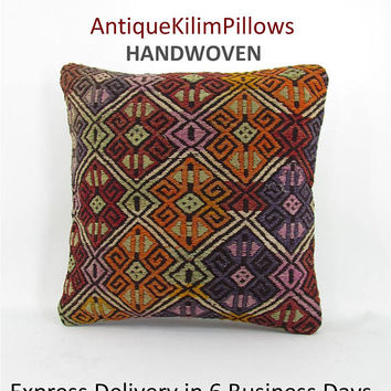 kilim rug pillow boho couch pillow cover throw pillow decorative pillow bedding pillow bedroom decor pillows 001068
