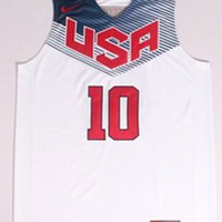 Kyrie Irving #10 2014 Basketball World Cup USA Dream Team American White Jerseys Size M 48