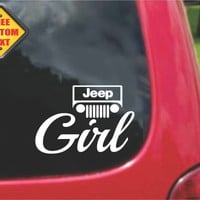 Jeep Girl Sticker Decal 20 Colors To Choose From.