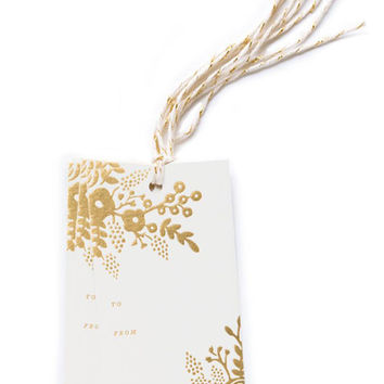 Gold Floral Gift Tags
