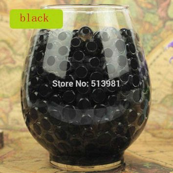ac NOOW2 5000pcs New Black Magic Pearl vase filler Shaped Crystal Soil Water Beads Mud Grow Jelly Creative bibulous Home Wedding Decor