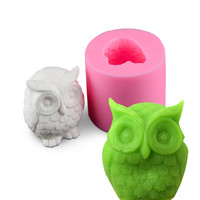 DIY Silicone 3D Cake Fondant Molds Owl Shape Silicon Mold Chocolate Jelly Candy Baking Tools DIY Handmade Kitchen Bakeware
