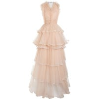 Givenchy Tiered Ruffle Gown