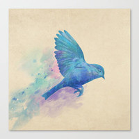 Blue Bird  Stretched Canvas by Terry Fan