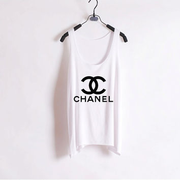 Classic Chanel - Women Tank Top - White - Sides Straight