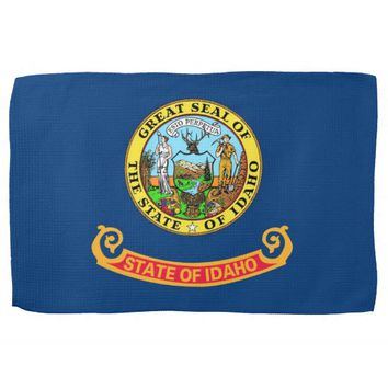 Kitchen towel with Flag of Idaho, U.S.A.
