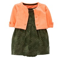 Carter's Tropical Dress & Cardigan Set - Baby Girl, Size: