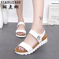 2017 Platform Summer Beach Girls Sandals Bohemia Wedge Gladiator Casual Sexy Fashion Women Shoes Sandals BT568