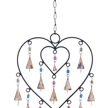 Wind Chime With Adorable Small Heart Inside