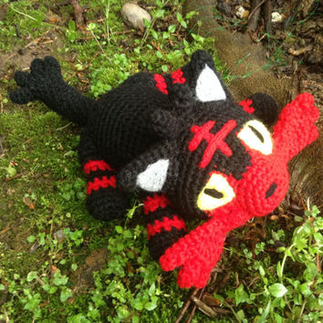 Pokemon Inspired: Alola Starter, Litten, the Fire Kitten!  (Crochet Plushie/Plush Toy) - MADE TO ORDER!
