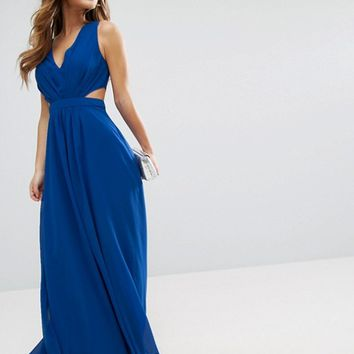 66f1055874e37 ASOS PETITE Side Cut Out Maxi Dress at from ASOS
