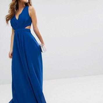 ASOS PETITE Side Cut Out Maxi Dress at asos.com