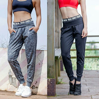 Casual Winter Slim Pants Quick Dry Gym With Pocket Sportswear [9328130884]
