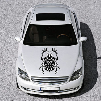 EVIL BEETLE ANIMAL DESIGN HOOD CAR VINYL STICKER DECALS ART MURALS SV1164