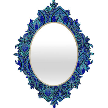 Aimee St Hill Ogee Blue Baroque Mirror