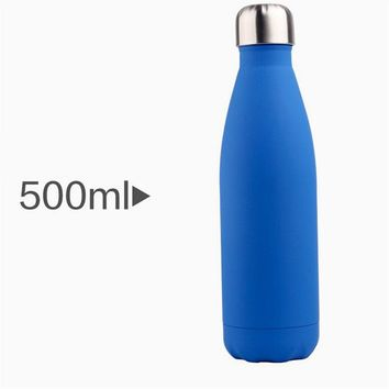 Family Friends party Board game 500ml Vacuum flasks coka bottle bowling water cup Stainless steel Creative fashion color sports thermos bottle thermos WW-VC003 AT_41_3