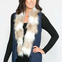 Fur Lined Sweater Vest