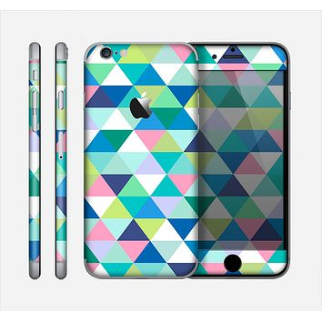 The Vibrant Fun Colored Triangular Pattern Skin for the Apple iPhone 6