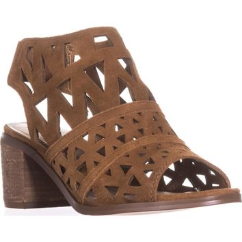 Steve Madden Estee Perforated Slingback Sandals, Cognac, 11 US
