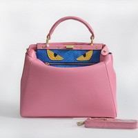 Fendi Women's Fashion Pink CLASSIC LEATHER SHOULDER tote handbag bag