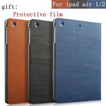 Hot sale Ultra Slim Magnetic PU Leather Smart Flip Stand Cover Case For Apple iPad Air/Air 2 Wake Up/Sleep Function for iPad 5/6