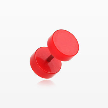 A Pair of Solid Acrylic Faux Gauge Plug Earring