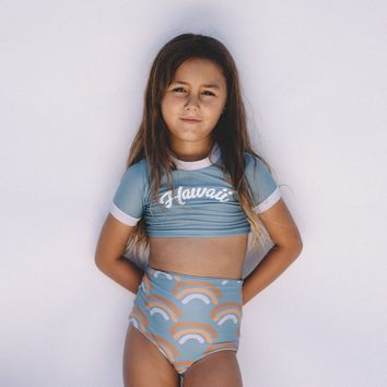 Girl's Reversible Rainbow Two Piece Separates