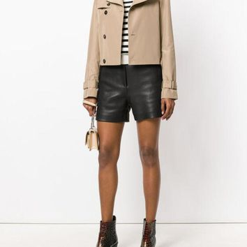 DCCKIN3 Saint Laurent Cropped Trench Jacket