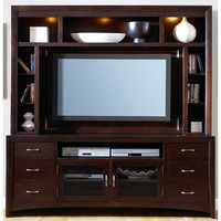 Liberty Furniture BKIT-940-EC00-940-TV00 New Generation Merlot Entertainment Hutch and Stand