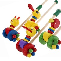 Baby Wooden Colorful Push and Pull Toy