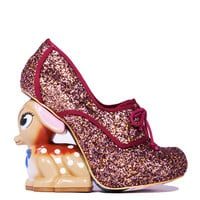 Irregular Choice Fawn Heel in Multi Glitter