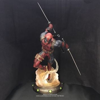 Disney Marvel Avengers Deadpool 35.5cm Action Figure Posture Anime Decoration Collection Figurine Toy model for children gift