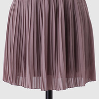 Iced Tea Pleated Skirt