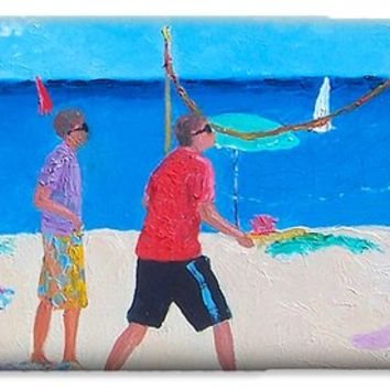 Beach Painting Beach Volleyball by Jan Matson iPhone 6 Case