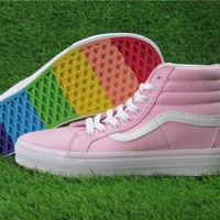 Vans Rainbow Ice Cream High Skateboarding Shoes 35-39
