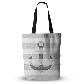 "Monika Strigel ""Stone Vintage Anchor Gray"" White Grey Everything Tote Bag"