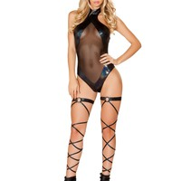 Roma RM-3501 Romper with Sheer Panels