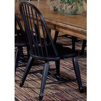 Liberty Furniture Dining Room Bow Back Side Chair - Black 17-C4050