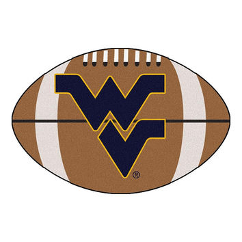West Virginia Mountaineers NCAA Football Floor Mat (22x35)