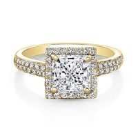 Forevermark Center of My Universe Princess Diamond Halo Ring 7/8ctw